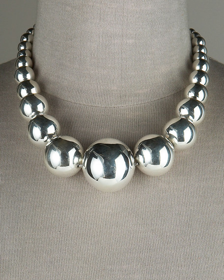Graduated Sphere Necklace