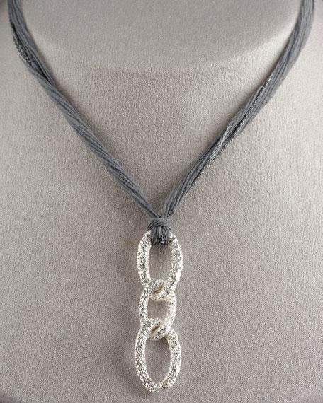 Triple-Link Chiffon Necklace