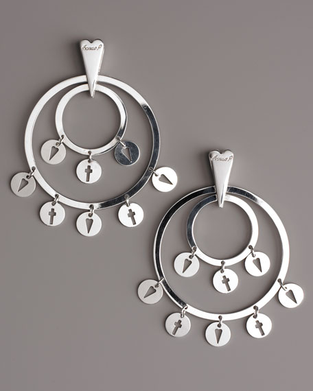 Opulent Love Circle Earrings