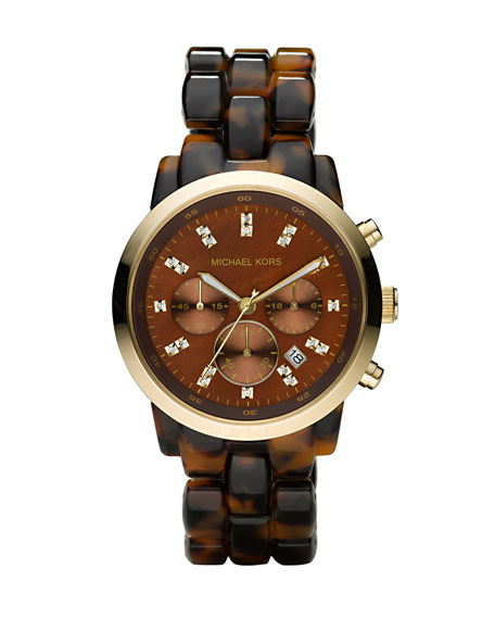 Oversized Tortoise Watch