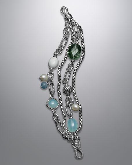 Four-Row Aqua Chalcedony Bijoux Bracelet