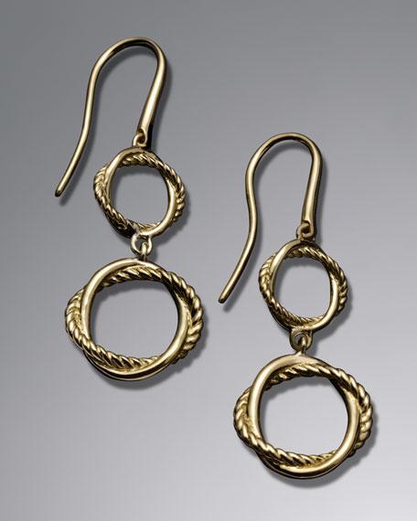 Infinity Double-Drop Earrings
