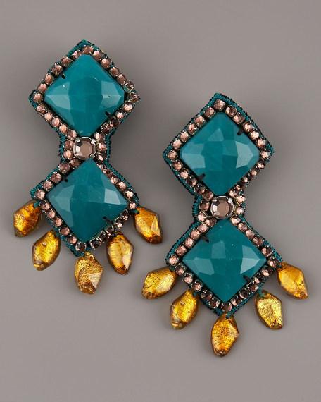Peacock Drop Earrings