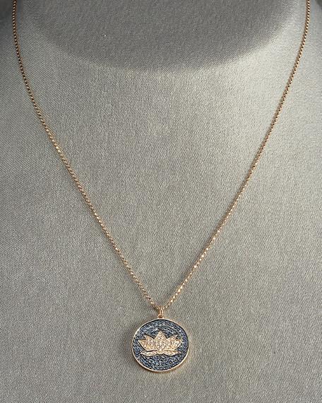 Lotus Disc Necklace