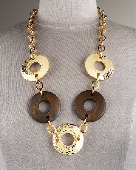 Wooden Ring Necklace