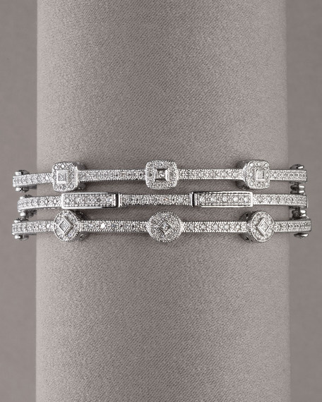 Circle & Square Diamond Bangle