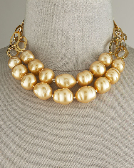 Two-Strand Baroque Pearl Necklace