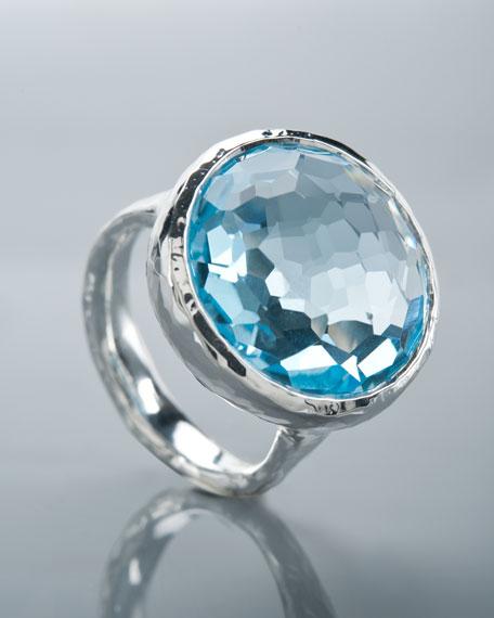Blue Topaz Lollipop Ring