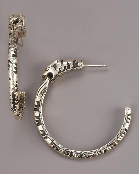 Palu Macan Tiger's Head Hoop Earrings