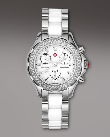 Steel Ceramic Diamond Watch