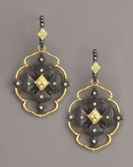 Maltese Cross Drop Earrings
