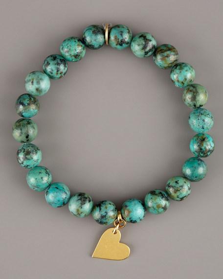 Sideways-Heart Goddess Bracelet
