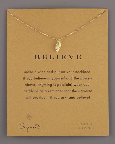 Believe Feather Necklace