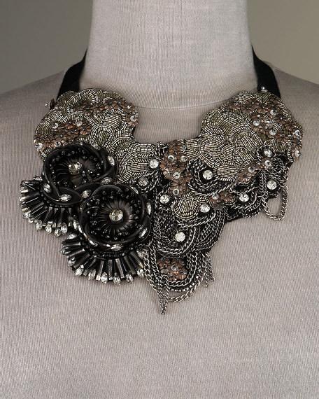 Arianna Beaded Flower Necklace