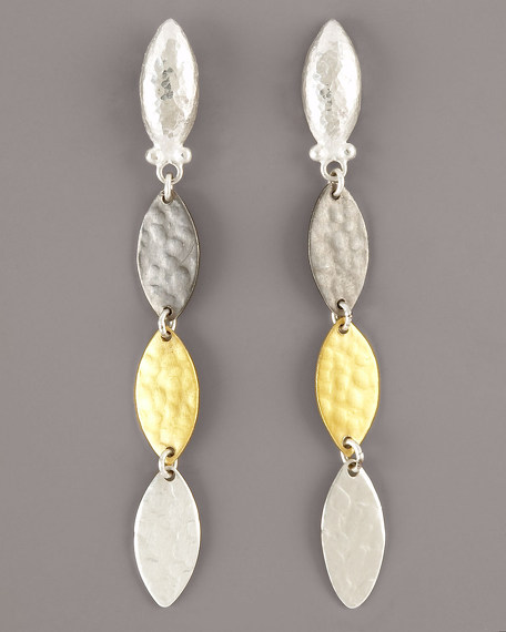 Leaf Flake Drop Earrings