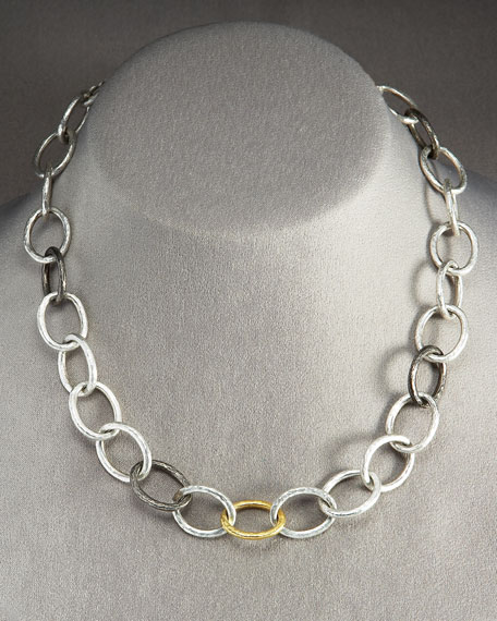 Thin Oval Chain Link Necklace