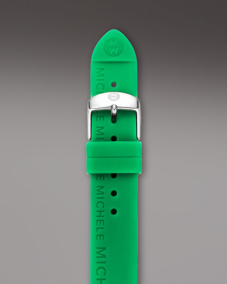 18mm Silicon Watch Strap, Green