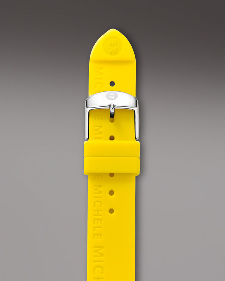 18mm Silicon Watch Strap, Yellow