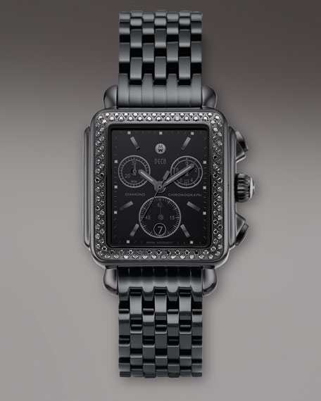 Deco Diamond Noir Bracelet Watch