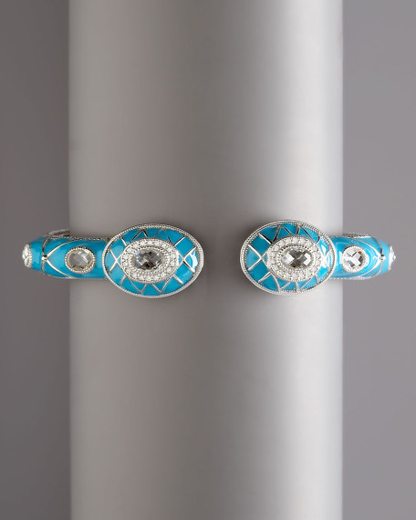 Quilted Pave Enamel Cuff