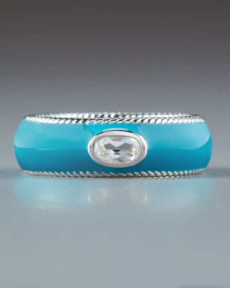 Woven Ring, Turquoise