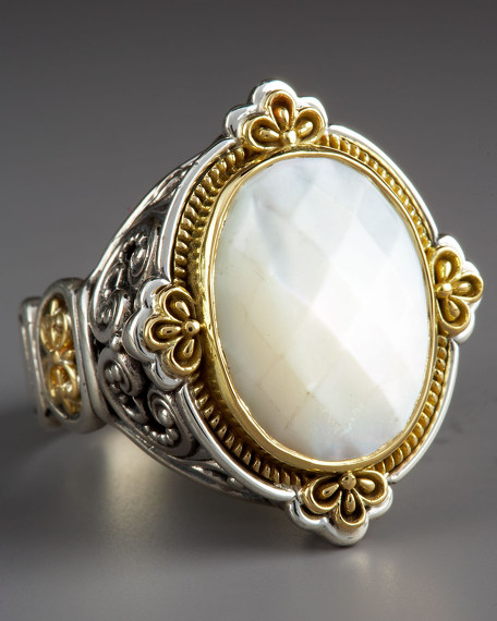 KONSTANTINO Oval Mother of Pearl Ring