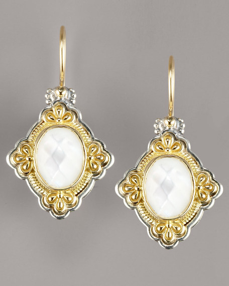 Mother-of-Pearl Clover Earrings