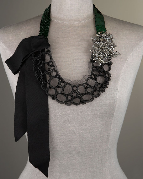 Sequin and Crystal Necklace