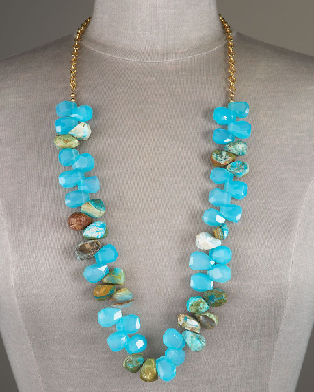 Opal and Chalcedony Necklace