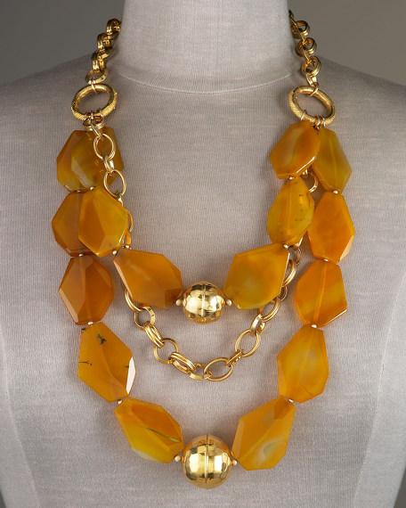 Three-Tier Chalcedony Necklace