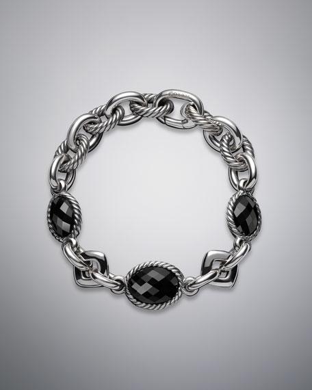 """Oval Bracelet, Black Onyx, 7.75""""L"""