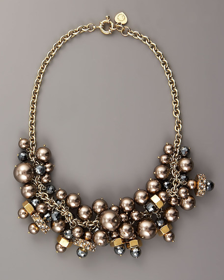 Pearlie Cluster Necklace