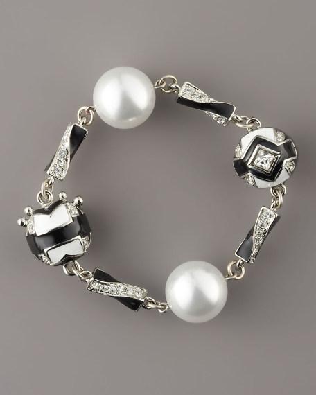 Art Deco Faux-Pearl Bracelet