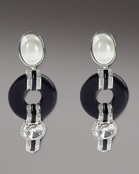 Resin Pearl Earrings