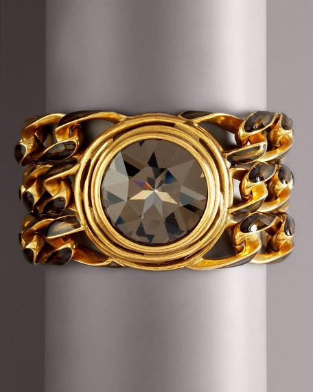 Wound Wire Crystal Bracelet