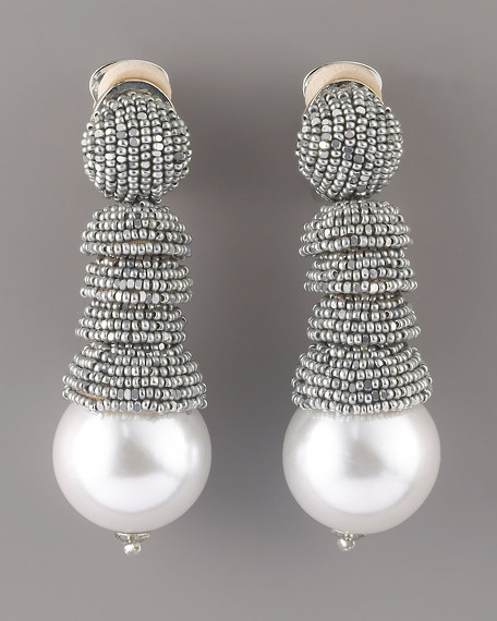 Oscar de la Renta Beaded Faux-Pearl Earrings