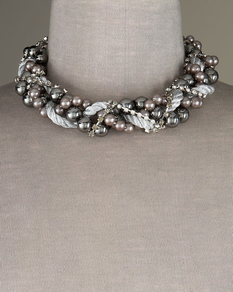 Hematite & Gray Pearl Necklace