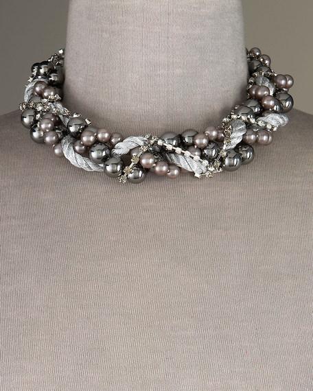 Hematite & Gray Pearl Necklace