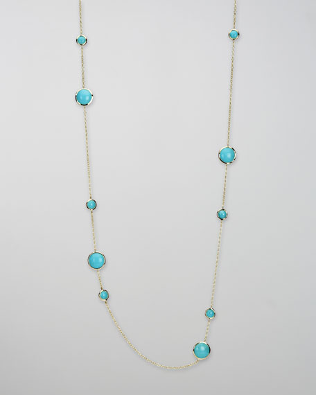 Turquoise Lollipop Necklace