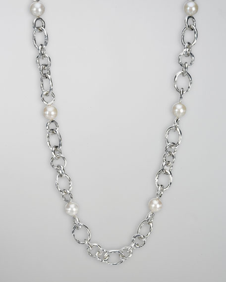 Pearl & Chain Necklace