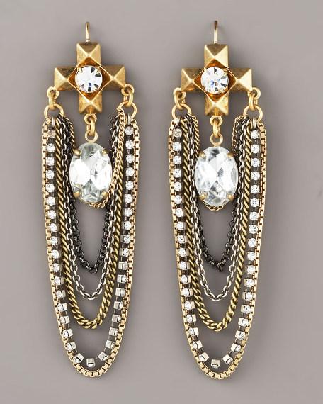 Chain Swag Chandelier Earrings