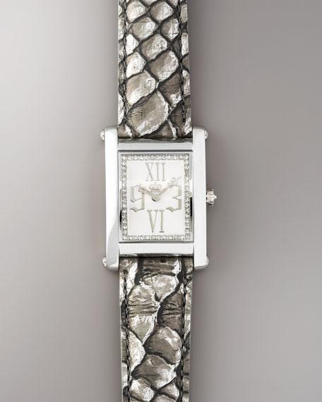 Zoe Watch, Silver Leather Strap