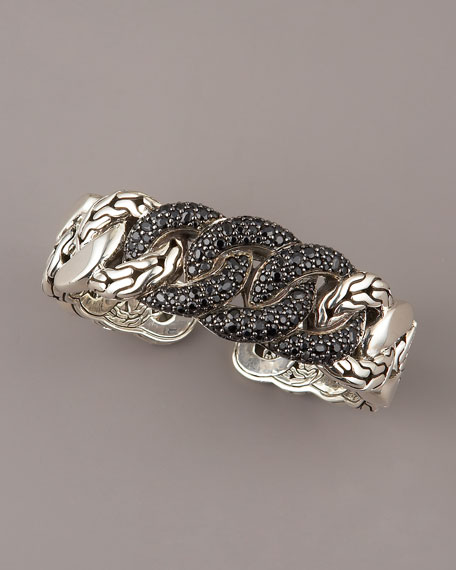 Black Sapphire Link-Chain Cuff