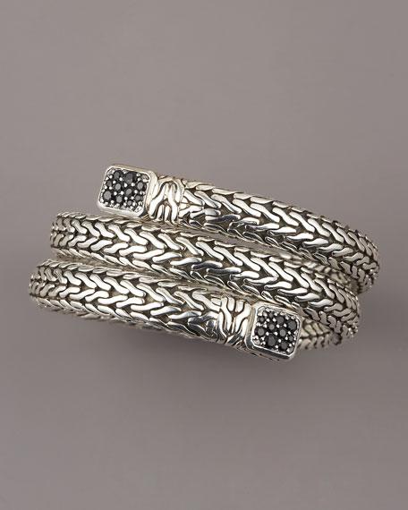 Black Sapphire Coil Bracelet