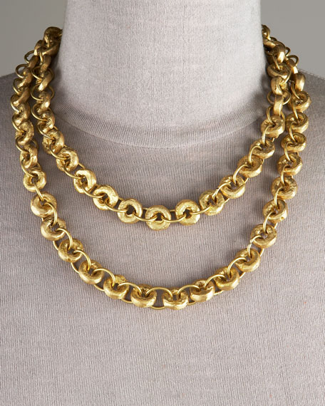 "Bronze Chain Necklace, 40"""