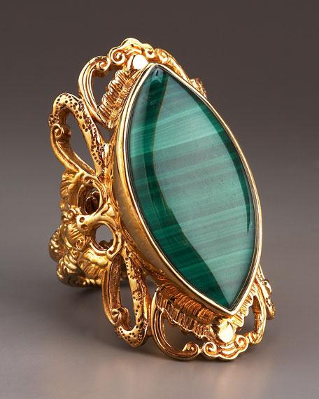 Malachite Marquise Ring