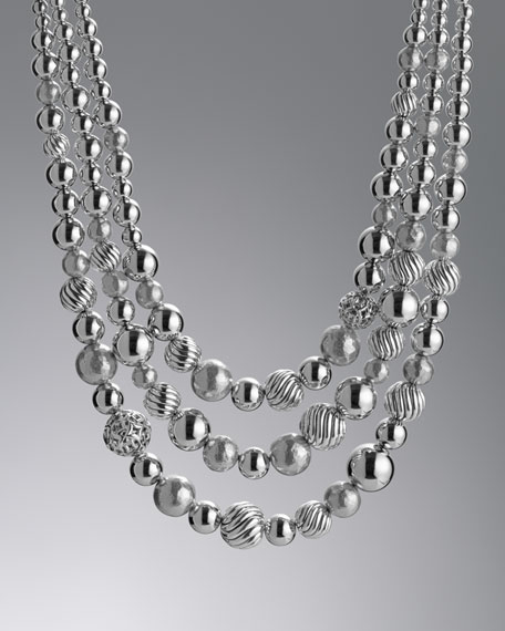 DY Elements Three-Row Necklace