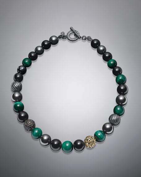 """DY Element Necklace, Malachite, 18"""""""