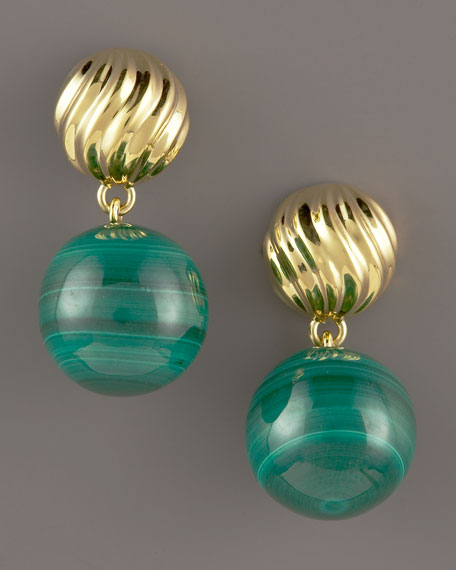 DY Elements Drop Earrings, Malachite