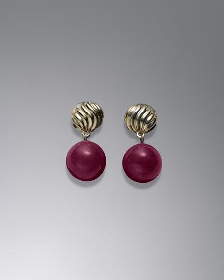 David Yurman Elements— Earrings, Ruby